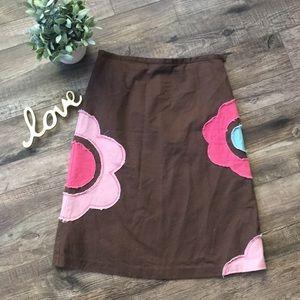 Boden Floral Patchwork Skirt